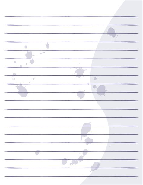 template for printable handwriting paper templates with lines