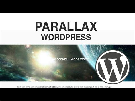 parallax section wordpress parallax plugin how to make a parallax section