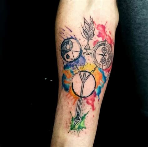 watercolor tattoos dublin watercolor color and sketch the black hat
