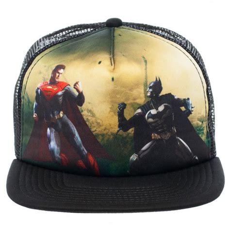 Topi Trucker Batman V Superman Fashionpriawanita dc comics injustice batman vs superman print trucker baseball cap hat ebay