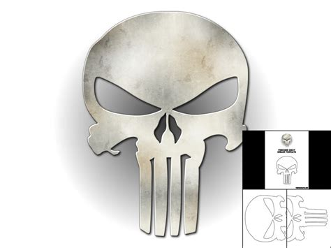 template for punisher chest emblem the foam cave