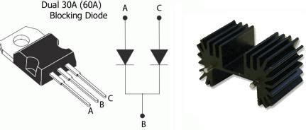blocking diode with heatsink turbine charge battery images