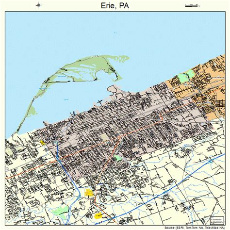 printable map erie pa erie pa map