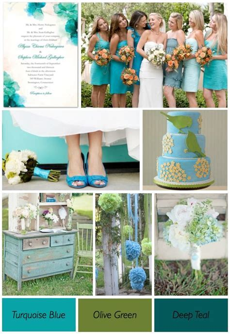 33 best images about Wedding.:.Blue & Green on Pinterest