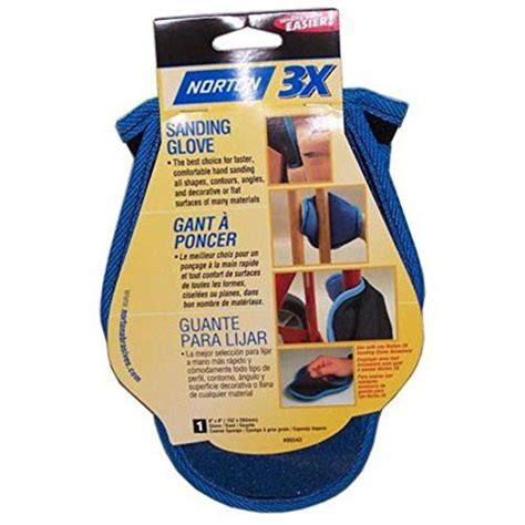 sanding glove  coarse sponge norton abrasives st
