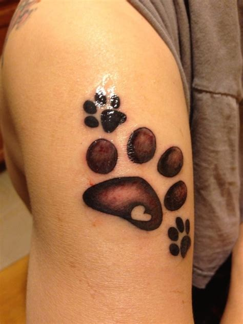 hand print tattoo paw print tattoos ideas