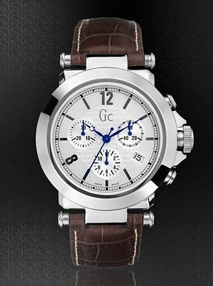 Gc 31000 Brown this bold chronograph has a clean classic feel for work or play polished stainless