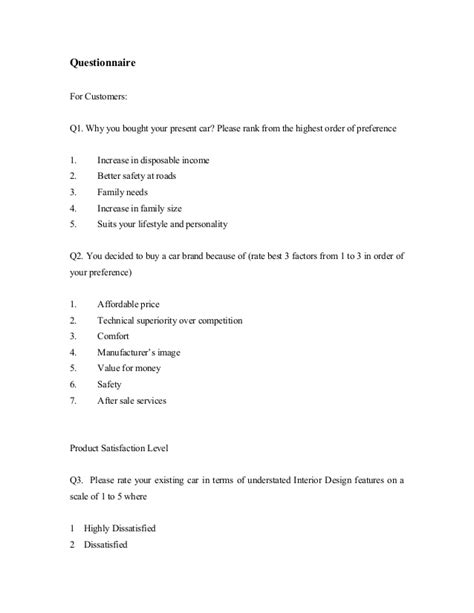 dissertation questionnaire template writing a questionnaire for dissertation