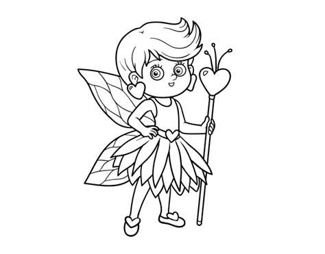 imagenes navideñas para colorear animadas dibujo de hada princesa de corazones para colorear