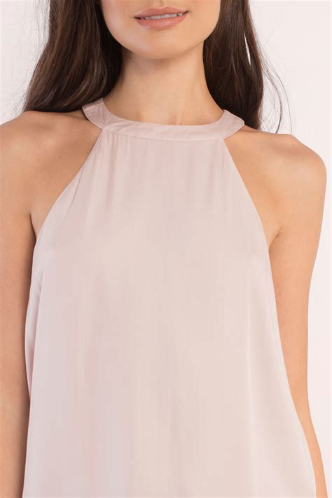Tank Tops blush tank top mock neck top pink top blush