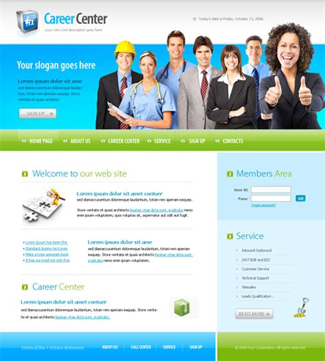 templates for corporate website corporate center xhtml template 6154 business