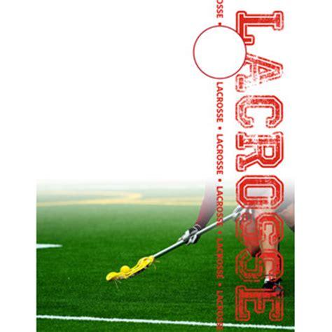 lacrosse player card template lacrosse book design templates sports program printing