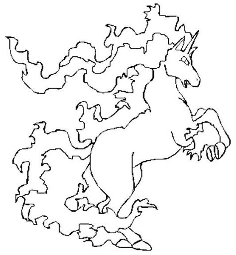 pokemon coloring pages rapidash pokemon coloring page 078 rapidash coloring pages