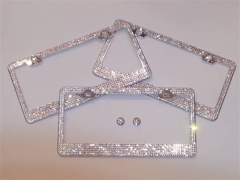 gestell mit teller beautiful swarovski license plate frame 5 6 rows with