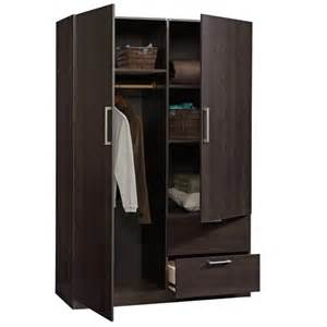 Wardrobe And Cabinet Sauder Beginnings Wardrobe Storage Cabinet In Cinnamon