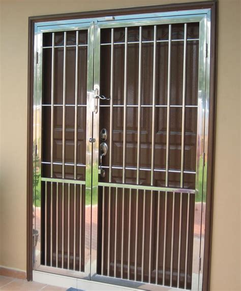 door grill malaysia enhance security  home