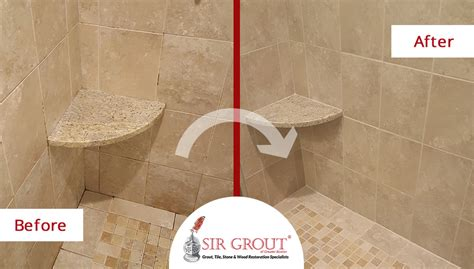 bathroom tile cleaning service heavily stained shower in acton ma is improved with a