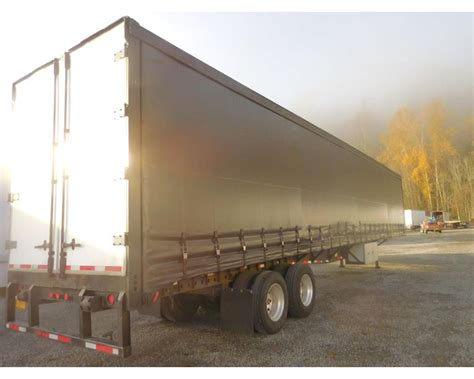 flatbed curtain side trailers 1998 nuvan 53 curatin van flatbed curtain side trailer