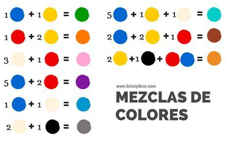 como mezclar tintes y obtener el color deseado gu 237 a de mezclas de tintes para obtener diferentes colores