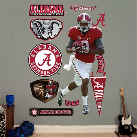 Alabama Crimson Tide Home Decor Life Size Amari Cooper Alabama Wall Decal Shop Fathead