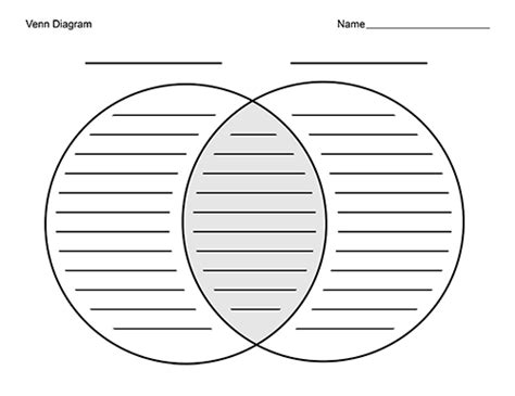 printable venn diagram with lines blank venn diagrams with lines for writing