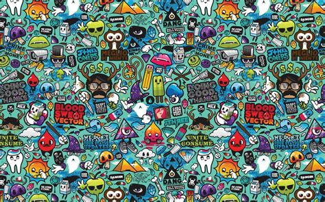 doodle wallpaper desktop wallpaper 3d abstract colorful doodle drawing