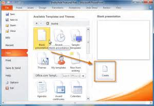 Powerpoint 2010 Getting Started With Powerpoint Page 6 Create New Template In Powerpoint