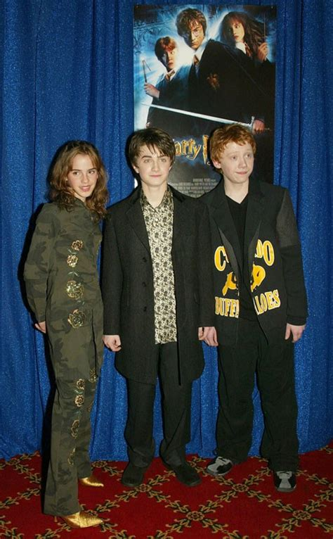 harry potter e la dei segreti cast il magico trio alla premiere harry potter e la