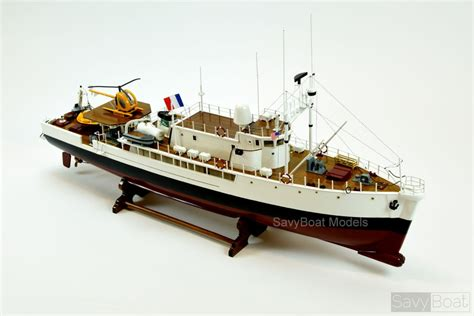 schip jacques cousteau rv calypso ship model handcrafted jacques yves cousteau