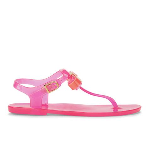 Ted Baker Jelly Sandal ted baker s deynaa jelly bow sandals pink free uk delivery allsole
