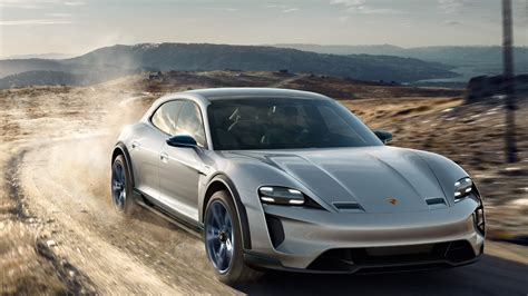 porsche electric mission e porsche debuts mission e cross turismo electric crossover