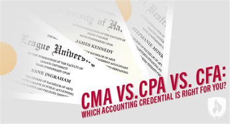 Cma Cpa Cfa Mba by Cma Vs Cpa Vs Cfa Which Accounting Credential Is Right