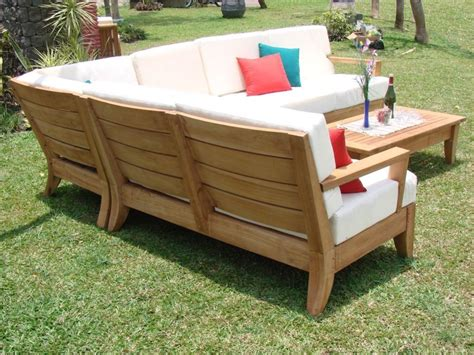teak sectional patio furniture atnas grade a teak outdoor sectional sofa set