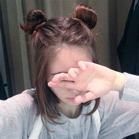 hair in a bun with short hair for black women 15 cute buns for short hair short hairstyles haircuts