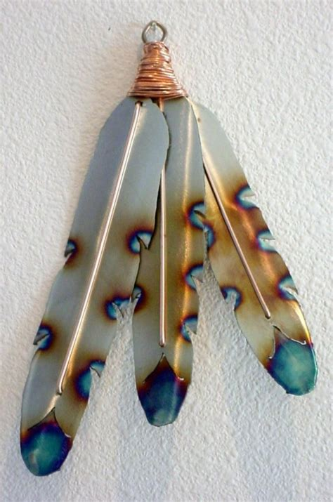 American Indian Decorations Home by Native American Indian Style Metal Feathers Steel Wall Art
