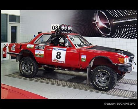 mercedes rally car a w107 rally car why the hell not school mercedes
