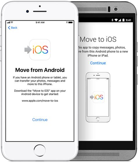 ios for android move from android to iphone or ipod touch apple support