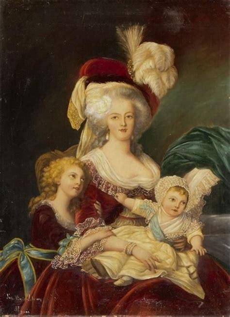mara antonieta retrato de 1482640279 vivelareine um retrato de maria antonieta e seus filhos ap 243 s uma pintura por elisabeth fonte