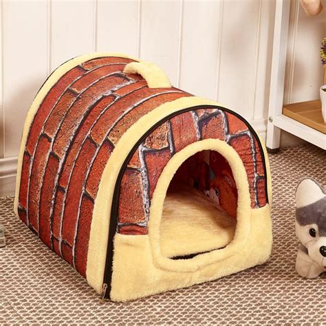 house dog bed foldable house shaped dog bed dog parent store
