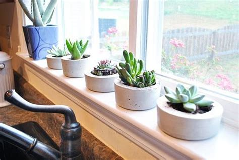 homemade planters 34 cool and modern diy concrete projects