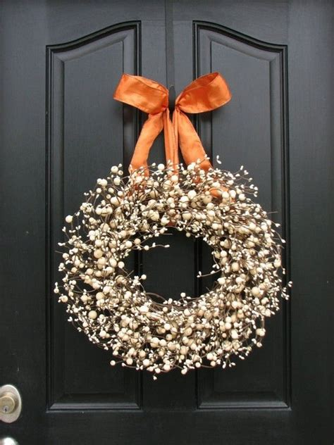 Cheap Wreaths For Front Door 17 Best Images About Fall Wreaths Urns I On Pumpkins Cabbages And Fall Plants