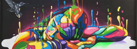colorful artwork dasic fern 225 ndez s inverse drip at miami s wynwood walls