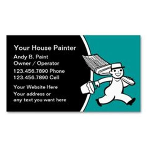 painter business card template 1000 images about painter business cards on