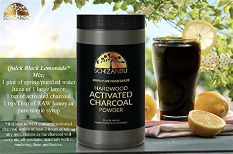 activated charcoal powder food grade detox huge jar