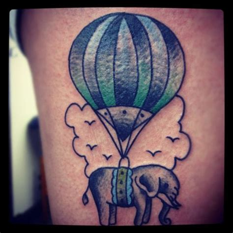 elephant balloon tattoo 1000 images about elephants hot air balloon on