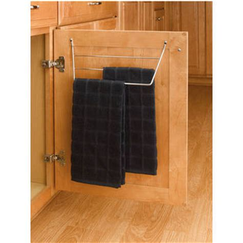 kitchen towel racks for cabinets kitchen cabinet door mount towel holders chrome or white