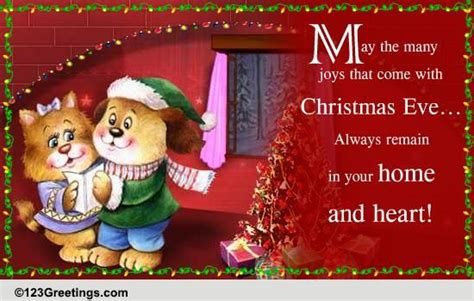 wishing   joys  christmas eve ecards greeting cards