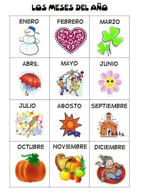 en el ano de los meses worksheet meses enespa 241 ol spanish online for children and