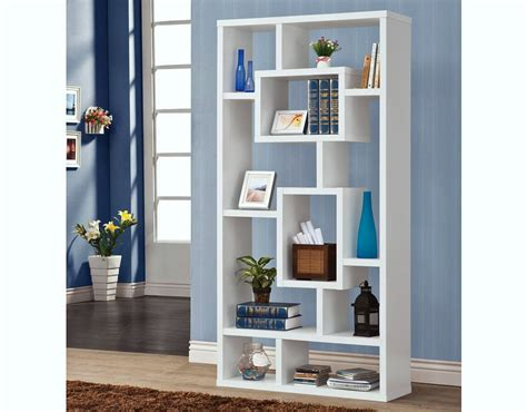 white modern bookshelves modern white display bookcase c 800157
