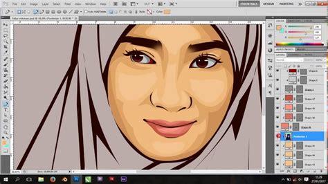 tutorial vector dan vexel belajar vector vexel cara shading wajah dan hijab youtube